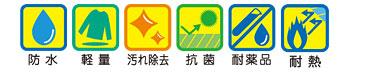 防水・軽量・汚れ除去・抗菌・耐薬品・耐熱