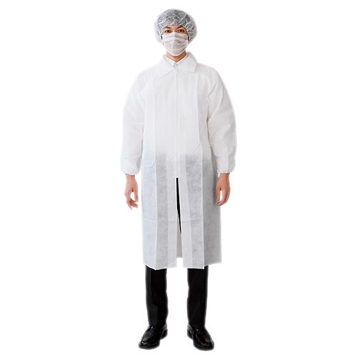 不織布使い捨て 見学者用白衣3点セット 食品白衣.JP